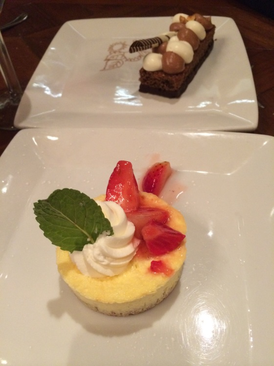 Polenta Hazelnut Cake and Lemon Ricotta Cheesecake